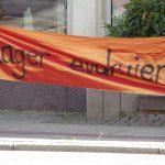 Kundgebung auf der Windmühlenstraße